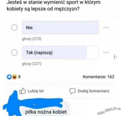 Sport w którym kobiety są lepsze od mężczyzn