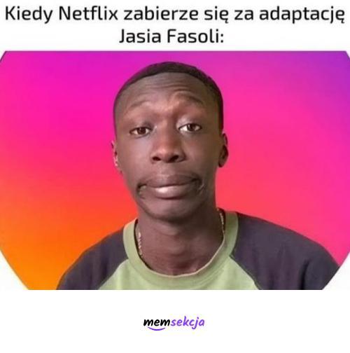 Jaś Fasola wg Netflixa. Memy. Khaby  Lame. Jaś  Fasola