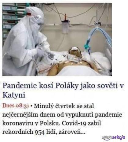 Pandemie kosi Polaky