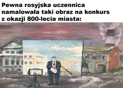Obraz obrazujący zakłamanie medialne
