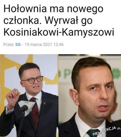 Hołownia wyrwał członka Kosinakowi-Kamyszowi
