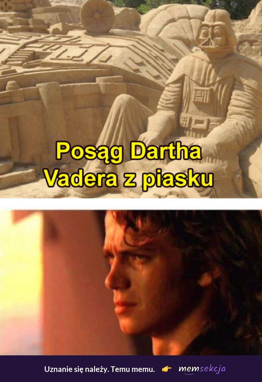Darth Vader z piasku