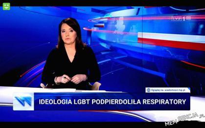 Ideologia LGBT ukradła respiratory - pasek TVP