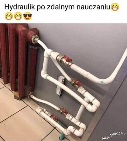 Hydraulik po zdalnym nauczaniu