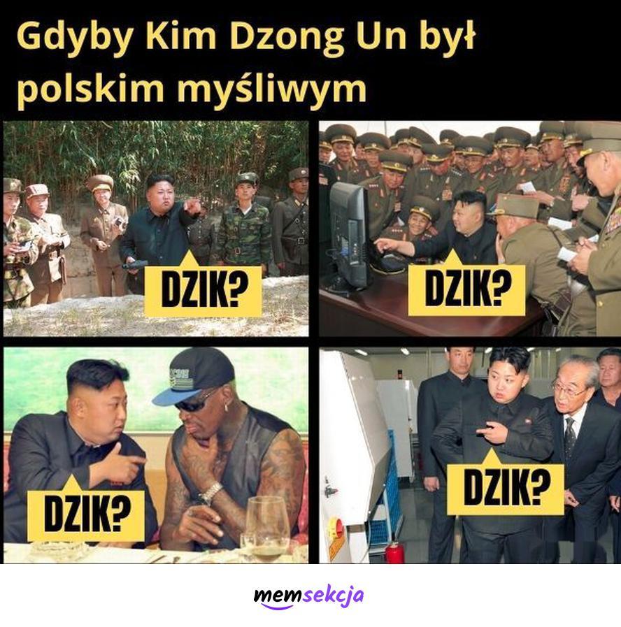 Gdyby Kim Dzong Un był polskim myśliwym. Śmieszne. Kim  Dzong  Un. Dzik. Myśliwi