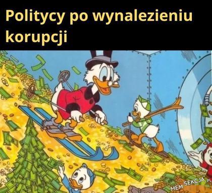 Politycy po wynalezieniu korupcji