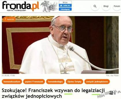 Papież Franciszek jest niesamowitym czlowiekiem