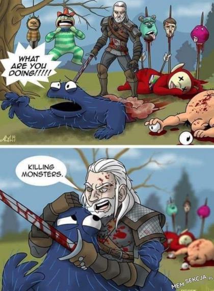 Wiedźmin zabija potwory