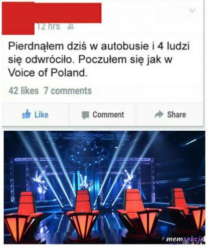 Poczułem się w autobusie jak w Voice of Poland