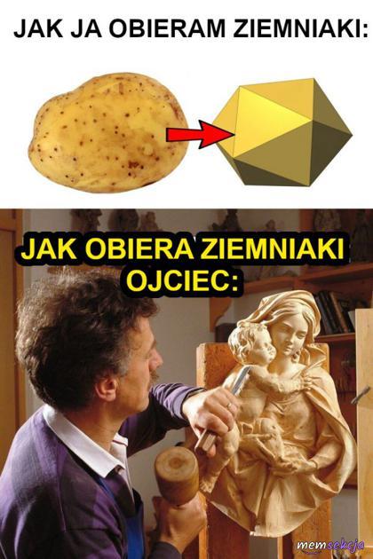 Ziemniaki orane przez ojca
