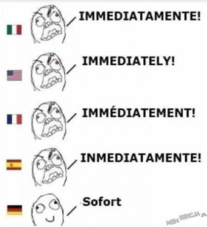 Wyjątkowo niemiecki jest najłagodniejszy . Memy