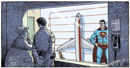 Czy to samolot, czy to ptak? Nie, to SUPERMAN. Śmieszne. Superman. Beka. Zabawne. Samolot. Ptaki