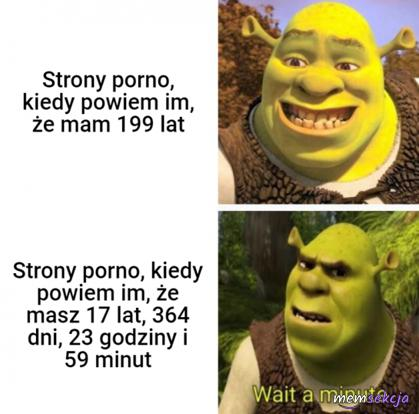 Strony porno reagują na mój wiek