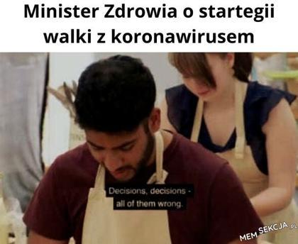 Minister zdrowia o strategii
