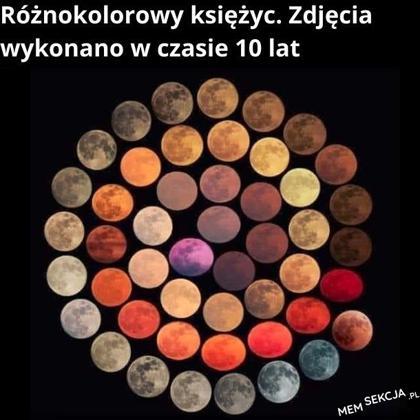 Różnokolorowy księżyc