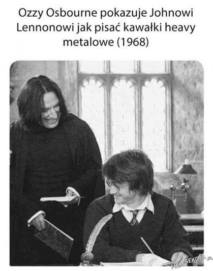 Ozzy Osbourne i John Lennon ale to nawet nie są oni. Memy. Ozzy  Osbourne. John  Lennon