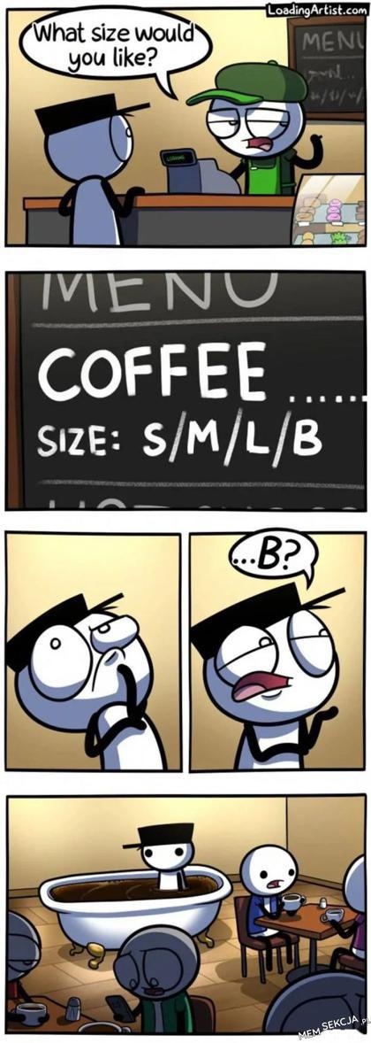 Rozmiar kawy B