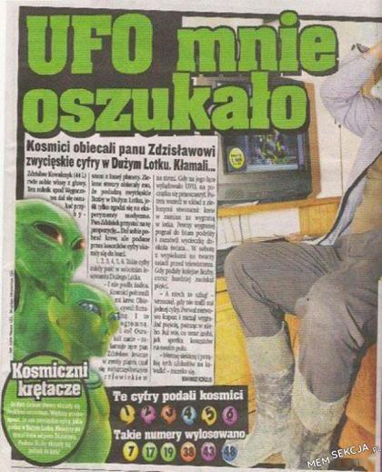 Kosmici krętacze - UFO mnie oszukało