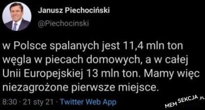 Polska na pierwszym miejscu