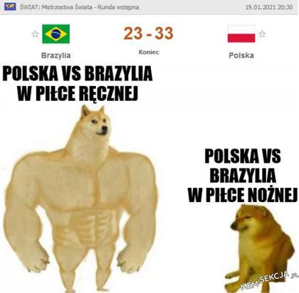 Polska vs Brazylia w piłkach