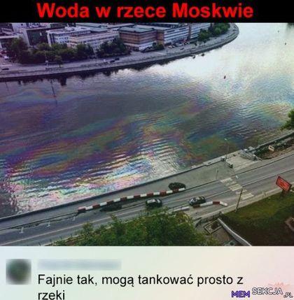 W Moskwie można tankować prosto z rzeki