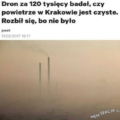 Powietrze w Krakowie