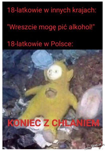 Młodzież w Polsce po skończeniu 18 lat