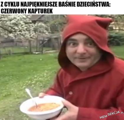 Makłowicz jako Czerwony Kapturek