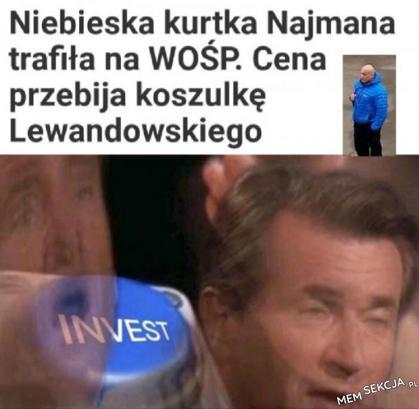 Kurtka Najmana trafiła na WOŚP. Śmieszne