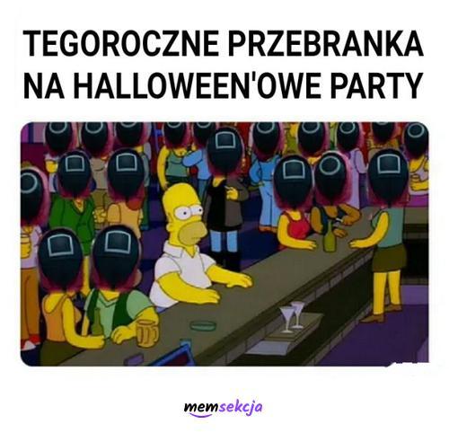 Tegoroczne przebrania na halloween. Memy. Halloween. Squid  Game