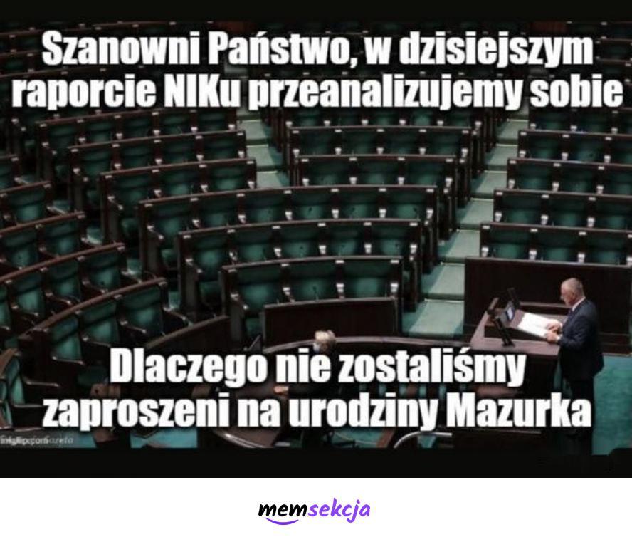 Raport NIKu na temat urodzin Mazurka. Śmieszne. Urodziny  Mazurka. Robert  Mazurek. Marian  Banaś. Nik