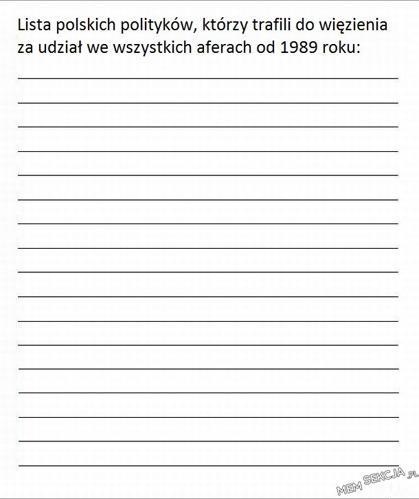 Lista polskich polityków, którzy trafili do więzienia za udział w aferach