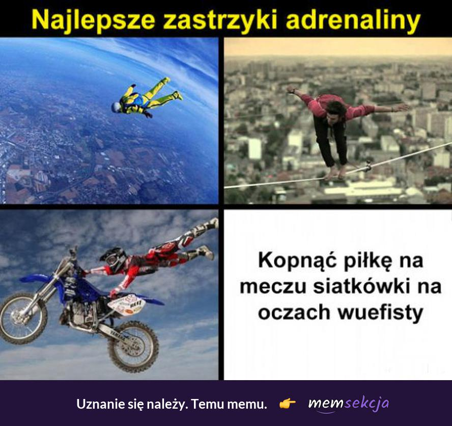 Najlepsze zastrzyki adrenaliny. Memy o Szkole. Wf. Siatkówka. Najlepsze