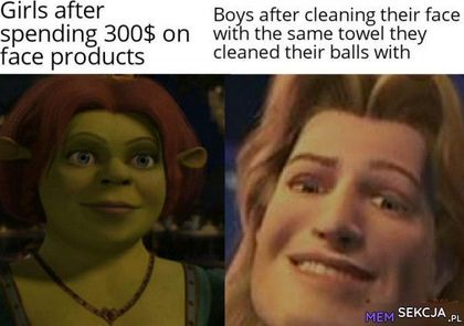 Face products cleaned their balls with