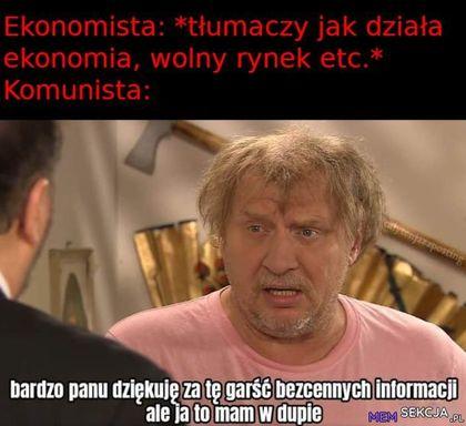 Ekonomista tłumaczy jak działa wolny rynek, na co komunista