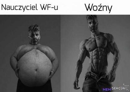 Nauczyciel WF-u vs woźny